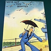 1945 Navy Sailor Postcard