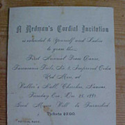 SALE 1883 A Redman�s Cordial Invitation