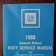 SALE 1988 GM/General Motors Body Service Manual