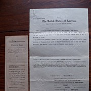 1914 Fort Sumner 06372 Land Office Paper & 1917 Warranty Deed� President Woodrow Wilson