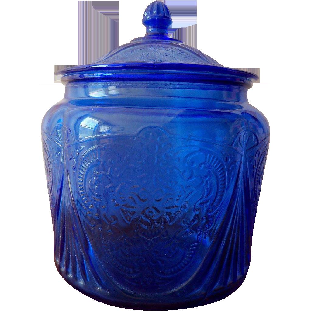 Cobalt Blue Glass Jars 23