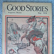 SALE 1934 Good Stories Augusta, Maine Magazine � Western Cover