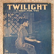 SALE 1910 Twilight - I Wait for You Piano Sheet Music � Beautiful Female Cover