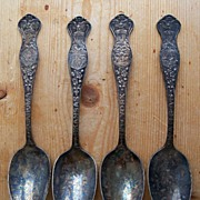SALE Four Oneida Community State Spoons � Oklahoma - Arkansas - New York & Kansas