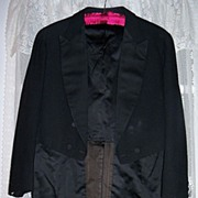 SALE Wonderful Vintage Black Tux/Tuxedo w/ Tail