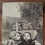SALE Real Photo Postcard � Two Orphan Native American Indian Infants
