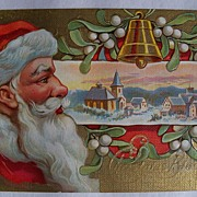 SALE Wonderful Vintage Santa Postcard w/Vivid Color