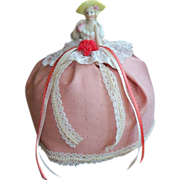 SALE Beautiful German Half Doll Pincushion/Pin Cushion