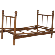 Wonderful 1920's Wooden Vintage Folding Doll Bed  Estate Find