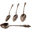 19th Century Victorian Silver Demitasse Spoons Set of Four