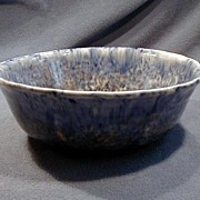 SALE Early Blue Decorated Spongeware Bowl