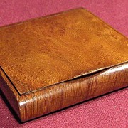 SALE Russian Art Beautiful 19th Century Exotic Wood Cigarette Case