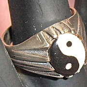 Sterling Yin Yang Ring Size 9