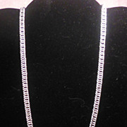Attractive Silver Tone Chain Necklace