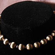 Gold Tone Bead Choker Necklace