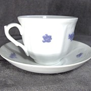 19th Century Grandmother�s China or Chelsea Porcelain Cup and Saucer Signed Addersley