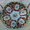 Beautiful Large Ornate Hand Painted Scalloped Edge Continental Bowl