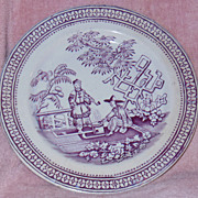 SALE T.G.B. Purple Transferware Plate Pekin Pattern