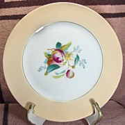 Haviland & Co. Limoges Pink, Gold and White Fruit Motif Plate