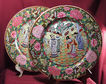 Pair of Beautiful Famille Rose Medallion Enamel Plates