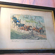 Set of Four 1800s Sports Mishaps Prints by Henry Thomas Alken
