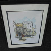Watercolor Art Print Windsor Castle by Noted Artist Jan Korthals
