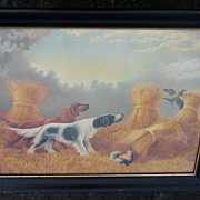 Vibrant Hunting Dogs Litho by L. M. Johnson, Chicago, 1903