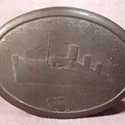 1930s Ocean Liners Biscuit or Candy Tin