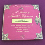SALE RCA Victor 45 Record Album Set Caruso Treasury of Immortal Performances