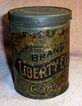 Old Advertising Frost�s Liberty Club Coffee Tin or Can with Paper Label