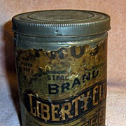 SALE Old Advertising Frost�s Liberty Club Coffee Tin or Can with Paper Label