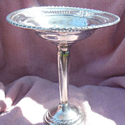 Tall Ornate and Reticulated Sterling Silver Compote Marked Columbia
