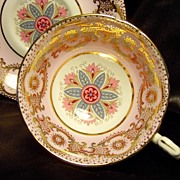Paragon Cabinet Tea Cup & Saucer ~ Arabesque Medallion on Powder Pink