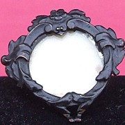 Antique vintage French Art Nouveau mourning locket brooch pin