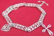 Vintage childs Maltese filagree silver faith hope and charity charm bracelet