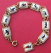 Vintage gold plated 1950's Spanish bull fighter souvenir bracelet