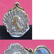Antique French Victorian Ascetic movement mourning hair locket