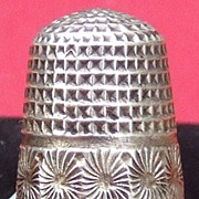 Antique Charles Horner sterling silver thimble