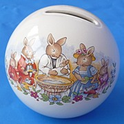 Bunnykins Christening Moneybox, Royal Doulton Ltd. 1936