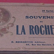 Vintage C1900 La Rochelle souvenir post card book