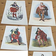 Vintage set 6 R.R Mcinan Scottish clan prints