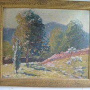 SALE Landscape by Listed Artist, Alphonse Palumbo, Oil Painting on Canvas