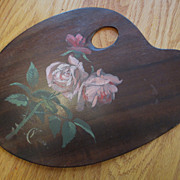 Painted Artist's Pallet Dated 1885