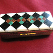 Victorian Agate Box with Multi-colored Agates / Snuff Box