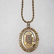 Antique Victorian Seed Pearl Locket