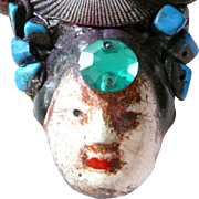 Artist Brooch Asian Theme Face