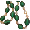 Best Frosted Glass Green Beads Choker