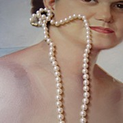 Good Fake Pearls 24 inches Creamy White 8mm