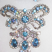 SALE Large Unsigned Girandole Brooch with Earrings Runway! Demi-Parure