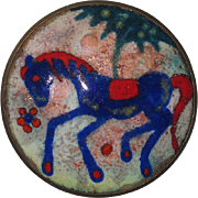 Joop Schilt Dutch Enamel Blue Horse Pin Holland